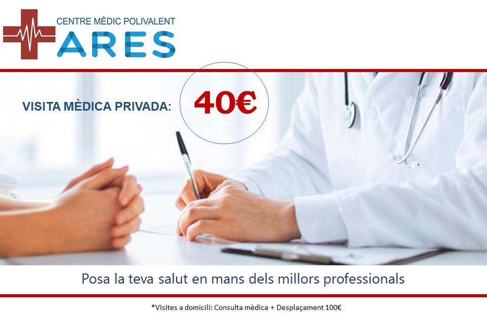 Centro medico privado con visita a domicilio